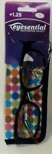 FOSTER GRANT Eye Essential Read Glasses & Case Plastic Frames CECILY NAVY +1.25
