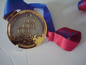 1994 Lillehammer Norway Olympic 'Gold Medal with Silk Ribbon & Display Stand !!!