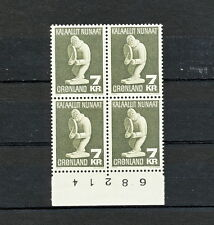SABD 545 GREENLAND 1979 MNH BLOCK OF 4 ART SCULPTURE SLANIA