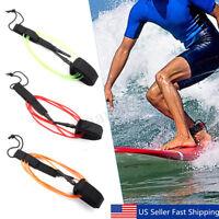 TPU 6FT Longboard Surfing Leash Surfboard Foot Leg Rope String Cord Survival