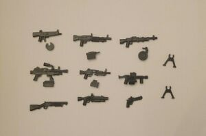 Lot of 9 Custom Gun Heavy Weapons Pack For Lego Minifigures