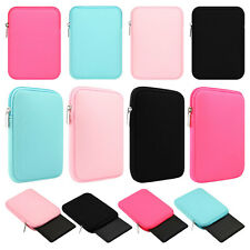"Soft Neoprene Sleeve Case Bag Cover For iPad 5th 9.7"" Pro 10.5"" Air 2 Mini 2 3 4"