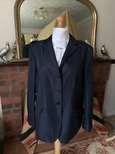 Ladies Mears Size 48/24 Navy Show Jacket Buttoned Panel Back Navy Velvet Collar