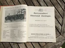 Merryweather & Sons Sales Catalogue C1905 436 Pages Firefighting Equipment Rare