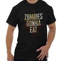 Zombies Gonna Eat Funny Dead Walker Gift Short Sleeve T-Shirt Tees Tshirts