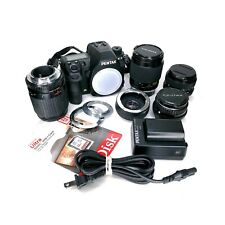 Pentax K-3 24.3MP DSLR Camera Bundle w/ 32gb SD, Lenses, Adapters & 2 Batteries