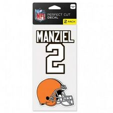 Cleveland Browns JOhnny Manziel Car Window Decal 4 Inch Set