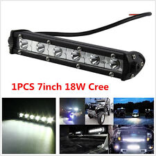 1pcs 7inch 18W Cree LED Work Light Bar For Offroad Spot Fog ATV SUV Driving Lamp