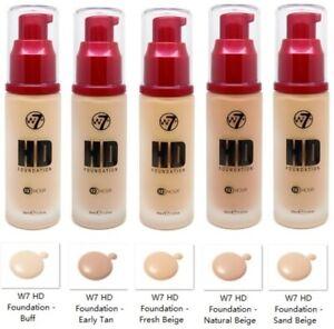 W7 HD Foundation (5 shades)