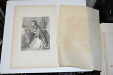 QUEEN BERENGARIA Engraving Print J.R. HERBERT H Austin Sir Walter Scott