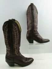 Ladies Abilene Maroon Leather Western Cowgirl Boots Size  : 6.5 M