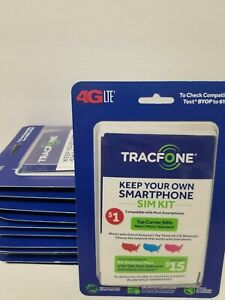Lot of 12 TracFone Bring Your Own Phone SIM Activation Kit 3 in 1 No Plan 4G LTE