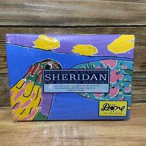 Vintage Sheridan Ken Done Parrot Fish Duvet Cover NEW