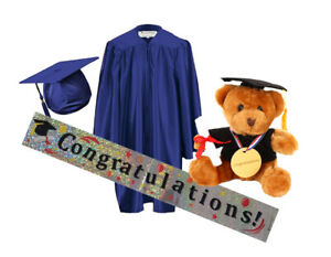 Children's Nursery Graduation Gown and Hat age 3--6 year kids---Celebration Pack