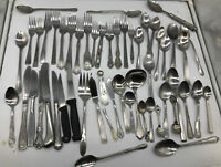 56 Piece Lot Misc. Stainless Steel Flatware Knives Spoons Forks Vintage Modern