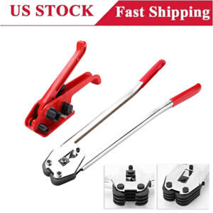 Strapping Tensioner Packing Tools Straps Binder Buckle Banding Machine W/Sealer
