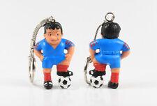Fußball Werbefigur == Trikot + Hose blau Maskottchen Figur Schlüsselanhänger