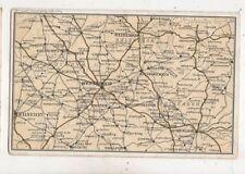 The Midlands Birmingham Worcester Leicester Vintage Map Postcard Foxall  634b