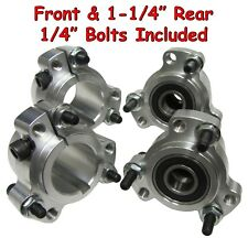 "Wheel Hub Set (Front & 1-1/4"" Rear) Go Kart Cart Parts Aluminum Rear w/Hardware"