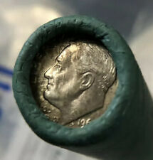 1962 D Original Bank Wrapped Roll Of 90% Silver Roosevelt Dimes BU $5 Face Value