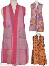 10 Vest Jackets Vintage kantha Long Reversible Gudri Rally Coat Sherwani JK6