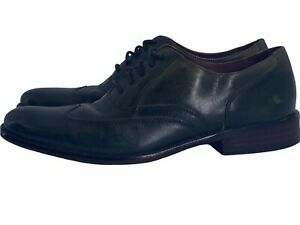 JOHN VARVATOS Luxe Size 7 M Dark Green  Leather Wingtip Oxford Dress Shoes