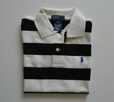 73948e25f85d22 RALPH LAUREN Jungen Polo-Shirt Poloshirt Schwarz Weiß gestreift Gr 6 Jahre  NEU