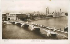 Real photo lambeth bridge bridge house
