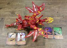 Bakugan Battle Brawlers Red Pyrus Gundalian Invaders Dragonoid Colossus& Cards
