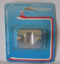 LIBERTY Decor Bathware Double Robe Hook wall mounted #D302 chrome