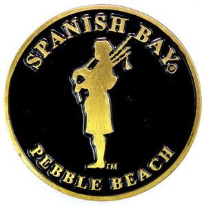 SPANISH BAY Golf Course Logo FLAT Golf BALL MARKER