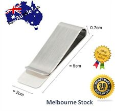 Money Clip Note Card Holder Stainless Steel Mens Wallet Ladies Purse Bag Metal