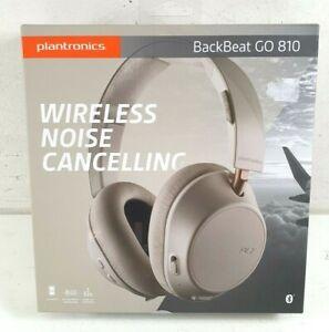 Plantronics BackBeat GO 818 Wireless Noise Cancelling Bone White Headphones