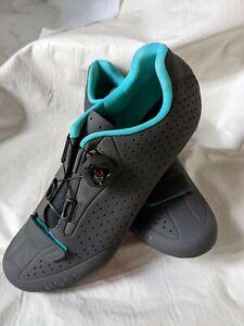 Fizik Womens R5 BOA Road Cycle Shoes 3 Bolt Gray Blue EUR 41 US 9 3/4