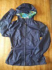 Girl's Zeroxposur Navy Blue Hooded Light Spring Fall Jacket Coat - Size L 14