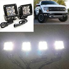 For 2011-2014 Ford F150 SVT Raptor 4x Built-in LED Fog Light Adjustable Kit Set