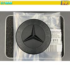 57mm für Mercedes-Benz Motorhaube Ersatz Stern Emblem Vorne Emblem Schwarz MATT