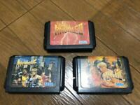 BARE KNUCKLE 1 2 3 STREETS OF RAGE 1 2 3 Set SEGA MEGA DRIVE Genesis Cartridge