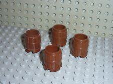 4 x Légo 2489 Barrel OldBrown Tonneau Castel Château Pirate 6086 6716 6077 6248