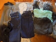 7 Pc. Junior's/Women's Clothing-10P Jeans/ Large Cover-Ups, Vest & Shirts