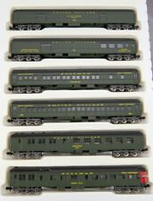 N Rivarossi Heavyweights Empire Builder 6 Car Set (Pullman Green) (580005)