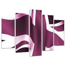 Set of 5 Purple Plum Canvas Wall Art Prints Pictures UK Bedrooms 5009