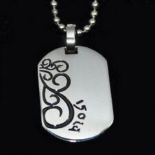 Collana per coppia Rami Acciaio inox Ciondolo + nera argento -farbig
