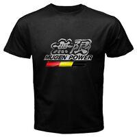 New MUGEN POWER JAZZ Tuning Racing Car Logo Men's Black T-shirt Size S to 3XL