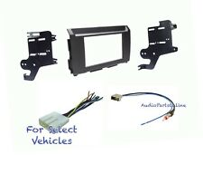 Double Din Car Stereo Radio Dash Kit Combo for 2016 2017 Nissan Titan + Titan XD