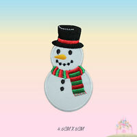 Snowman Christmas XMAS Embroidered Iron On Sew On Patch Badge For Clothes etc