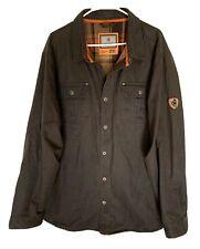 LEGENDARY WHITETAILS Mens Journeyman Shirt Jacket Flannel Lined Cotton 2XL XXL
