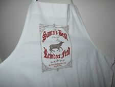 Christmas apron, Reindeer apron, Adult apron, cook apron, Holiday apron, white