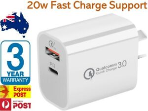 20W USB-C Type C Fast Wall Charger Adapter QC3.0 For iPhone 12 11 iPad Samsung
