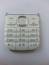 Original Nokia C2-01 Tastaturmatte Tastatur Cover Oberschale weiß white
